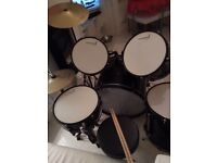 Black and white drum kit