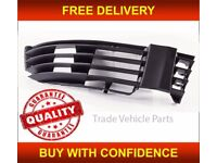 VW PASSAT 2000-2005 FRONT BUMPER FOG GRILLE WITHOUT FOG HOLE DRIVER SIDE NEW FREE DELIVERY