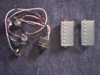 ELECTRIC GUITAR PICKUPS + WIRING AND CONTROL KNOBS