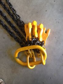Industrial heavy lifting chains.