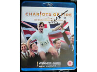 Nigel Havers signed copy of Chariots of Fire BlueRay DVD