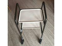 Bardon Trolley. Indoor Walking Aid. Transport for Drinks etc. 4 Wheels. 2 Shelves.