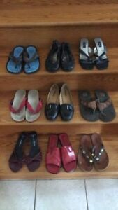 9 pair of shoes and sandals- $20