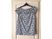 Black/white H&M top: size small