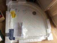 900mm white quadrant shower tray