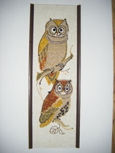 Hand crafted Owl Picture Gravel art for sale