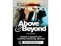 ABOVE AND BEYOND TICKET