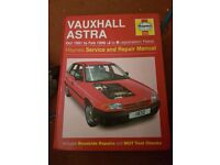Astra Mk 3 Haynes Manual Plus Parts.