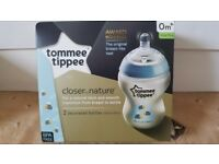 Tommee Tippee Decorated Bottles (Blue) 2-pack