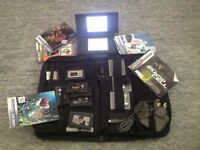 Nintendo ds lite black with case and games