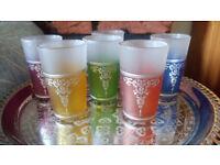 Genuine handmade Moroccan tea glasses