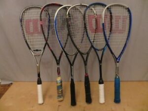 Set of Squash Racquets/Rackets and Balls