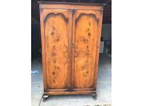 Victorian flame mahogany cupboard or wardrobe