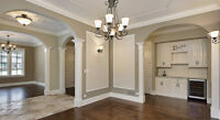 Crown moulding, Wainscoting, Beseboards & Casing
