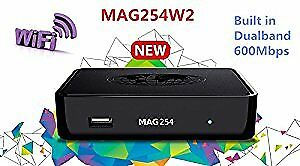MAG254 W2 BUILT IN WIFI +2 YEAR IPTV (24 MONTHS) ONLY $260.