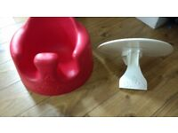 Red Bumbo With white tray