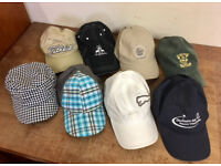 GOLF CAP COLLECTION IN NEW OR MINT CONDITION - £45 - CASH ON COLLECTION ONLY