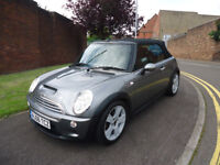 2006 MINI COOPER S CONVERTIBLE 6 SPEED MANUAL HALF LEATHER SEATS 73K MILEAGE VERY CLEAN CAR