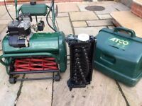 """Atco Balmoral 17"""" lawnmower with scarifier"""