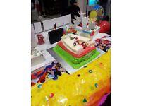 Baking birthday and wedding cakes