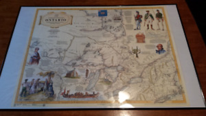 Ontario Map in frame