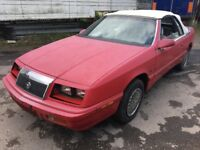 1990 CHRYSLER LE BARON 3.0 PETROL, AUTOMATIC, CONVERTIBLE, LEFT HAND DRIVE , USA, SPARE OR REPAIRS