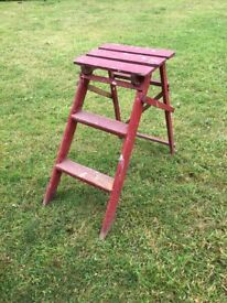 small wooden steps / stool