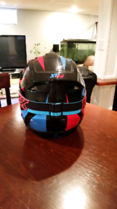 Fox dirt bike helmet and goggles