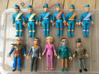 Set of 11 Thunderbird characters in good condition