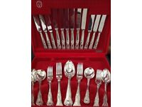 Cutlery Set. Stainless Steel Cutlery set. Boxed 36 piece with 4 serving spoons