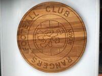 Glasgow Rangers hardwood wall plaque