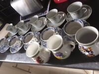 Bundle of Antiques cups and saucer + extra cups