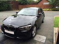 BMW 1 SERIES 118D M SPORT BLACK METALLIC