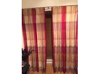 Stunning red and gold curtains