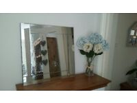 Gorgeous thick bevelled mirror