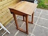 Old original wooden school desk