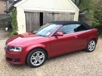 Audi A3 Cabriolet 2.0 TFSI, excellent condition, full service history, only 2 owners, great to drive