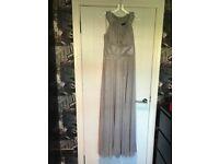 2 x silver dresses