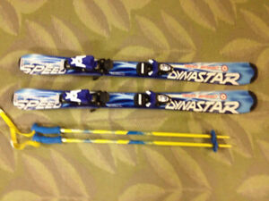 Kids Skis with Bindings and Poles