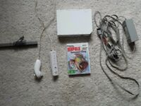 WII CONSOLE PLUS 1 game plus CONTROLLER £20 WII FIT BOARD Plus 1 wii fit game £10,