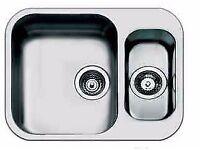 new stainless steel undermount inset kitchen sink and waste
