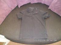 5 x boys school polo shirts in black size 10-11 yrs