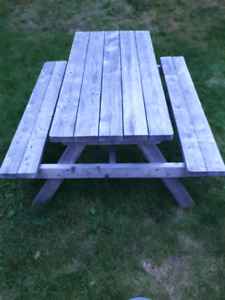 Handcrafted Picnic Table