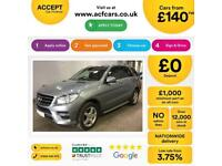 Mercedes-Benz ML350 AMG FROM £140 PER WEEK!