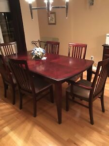 Rosewood dining room table set