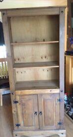 mexican pine corona bookshelf
