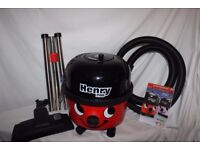 Boxed Numatic Red Henry Hoover HVR200 with tools and accessories. As new.