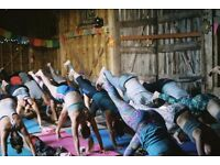 Exhale yoga festival weekend ticket in Fairoaks Farm, Wiston, West Sussex