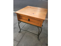 Side Table / Bedside Table with one drawer. Size L 22in D 22in H 22in .