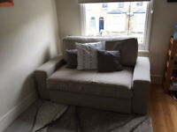 IKEA VILASUND Beige Two - Seat Sofa - Bed Good Condition